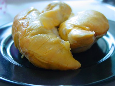 Durian flesh on a plate